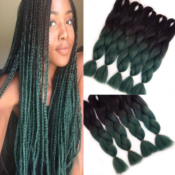 1 Pice Jumbo Braid Extensions Capillaires Couleur Ombre