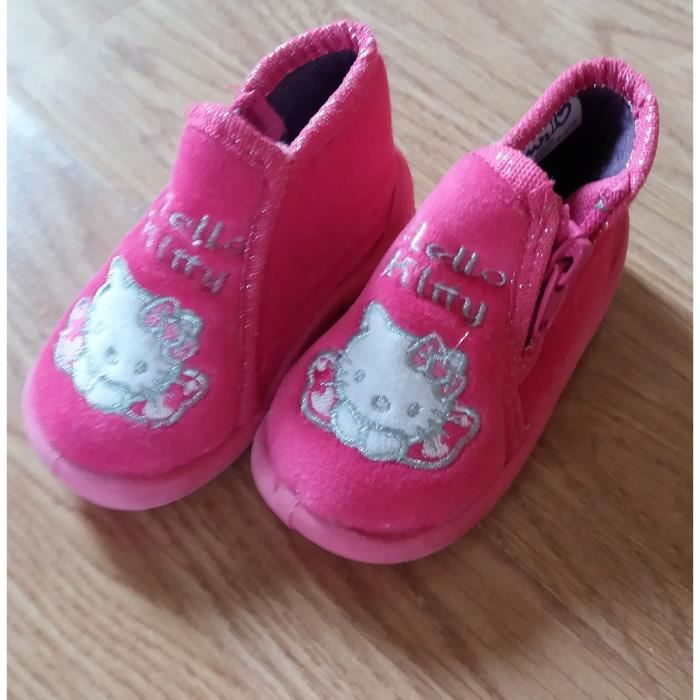 KITTY CHAUSSONS FILLE D'OCCASION HELLO POINTURE 19 ROSES gRqT7U