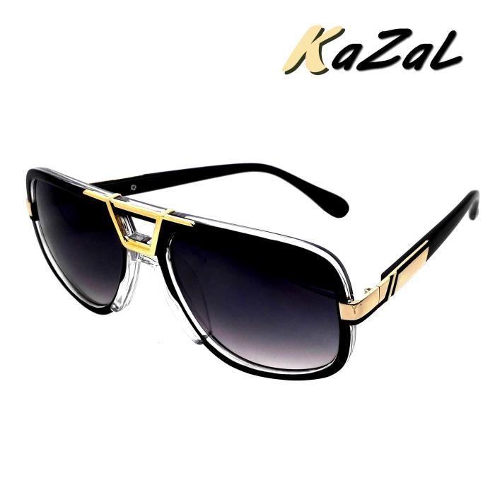 lunettes de soleil mixte kazal noir homme et femme noir. Black Bedroom Furniture Sets. Home Design Ideas