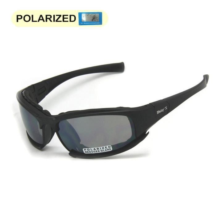 Lunettes de soleil polarisées Daisy X7 armée, Kit de lentilles de lunettes  militaire 4, hommes jeu de guerre tactique extérieure c37a501949ac