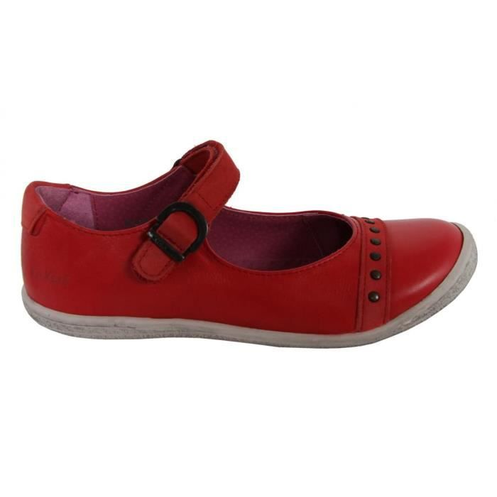 Chaussures pour Fille KICKERS 413970-30 CAKMANDOU ROUGE FONCE