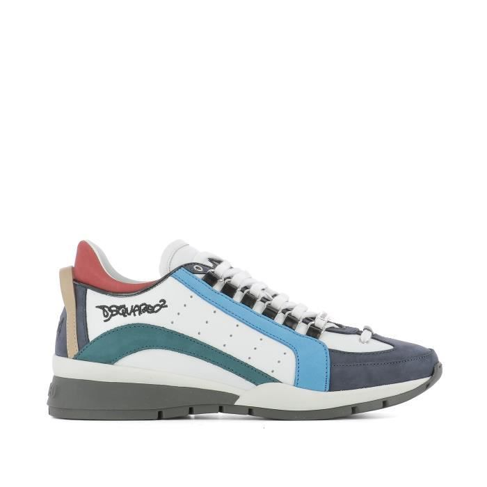 DSQUARED2 HOMME W17SN4041110M243 MULTICOLORE CUIR BASKETS