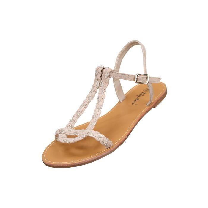 Sandales femme Lily shoes L901 Beige