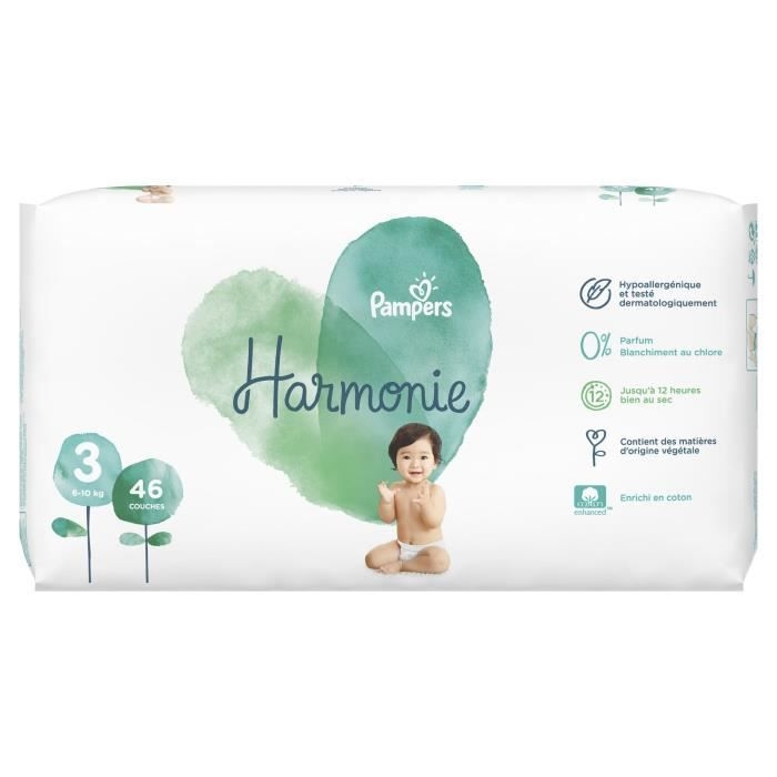 Pampers Harmonie Taille 3 6 10 Kg 46 Couches Achat Vente