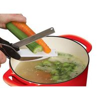 CISEAUX DE CUISINE Ciseau couteau des légumes Clever Cutter 2 en 1 en