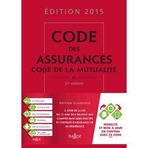 LIVRE DROIT AFFAIRES Code des assurances, code de la mutualité