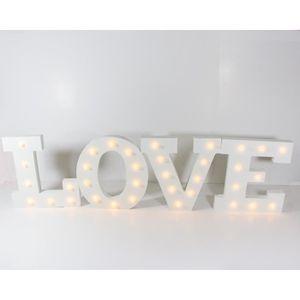 Déco de fête murale Mot LOVE lumineux à LED (108 cm x 29 cm), décorati