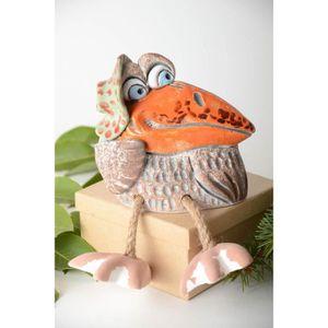 TIRELIRE Tirelire oiseau faite main Figurine animal corneil