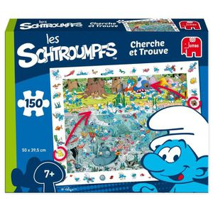 PUZZLE Puzzle 150 Pièces - SCHTROUMPFS Cherche et Trouve