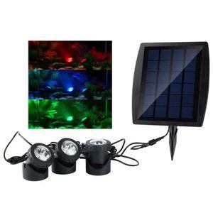 PROJECTEUR - LAMPE Projecteurs LED Extérieur Solaire Lumières Piscine