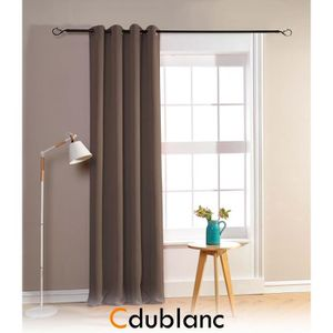 RIDEAU 2 Rideaux occultant 140x260cm TAUPE F. 100% polyes