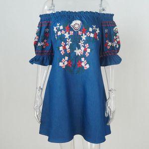 Robes en jean pour femme - Achat   Vente pas cher edb905f7cc3