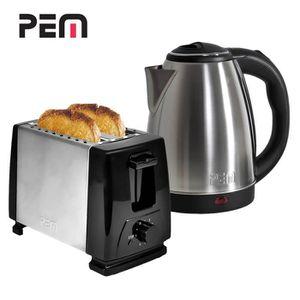 LOT APPAREIL PETIT DEJ Petit déjeuner - Grille-pain 2 fentes Alu-Brossé +