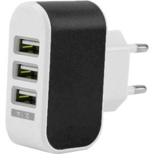 CHARGEUR TÉLÉPHONE 3.1A Universal Chargeur mural Trois USB ports Adap