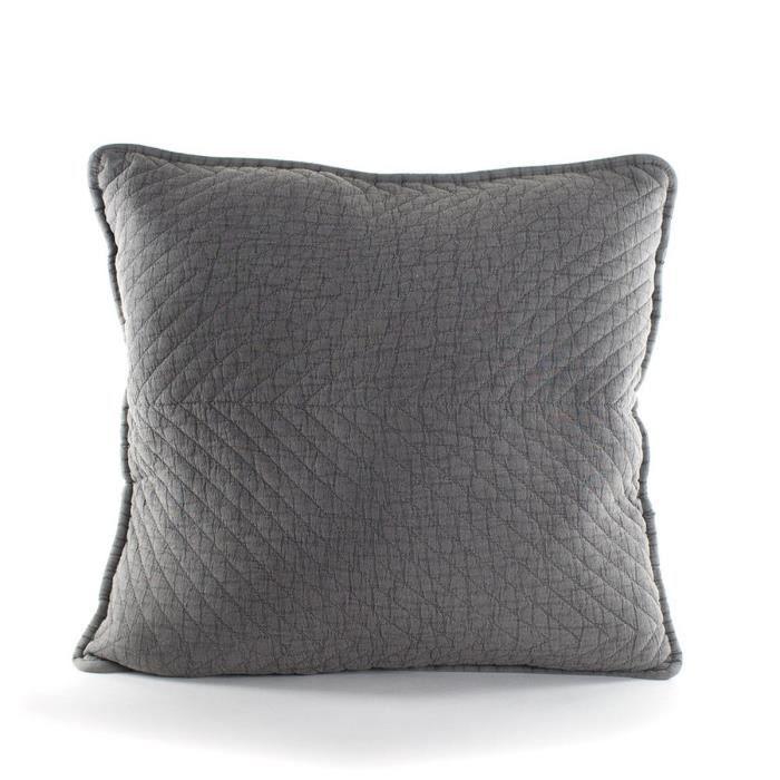 MARLENE BACKER Coussin Juliette 60x60 cm gris