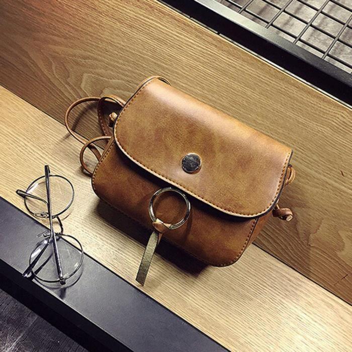 Fosenme CQQ70317341BW Mode féminine en cuir Tassel Sac à bandoulière épaule Messenger Sac de téléphone Coin