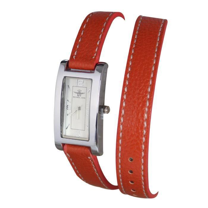 montre femme bracelet double cuir achat vente pas cher. Black Bedroom Furniture Sets. Home Design Ideas