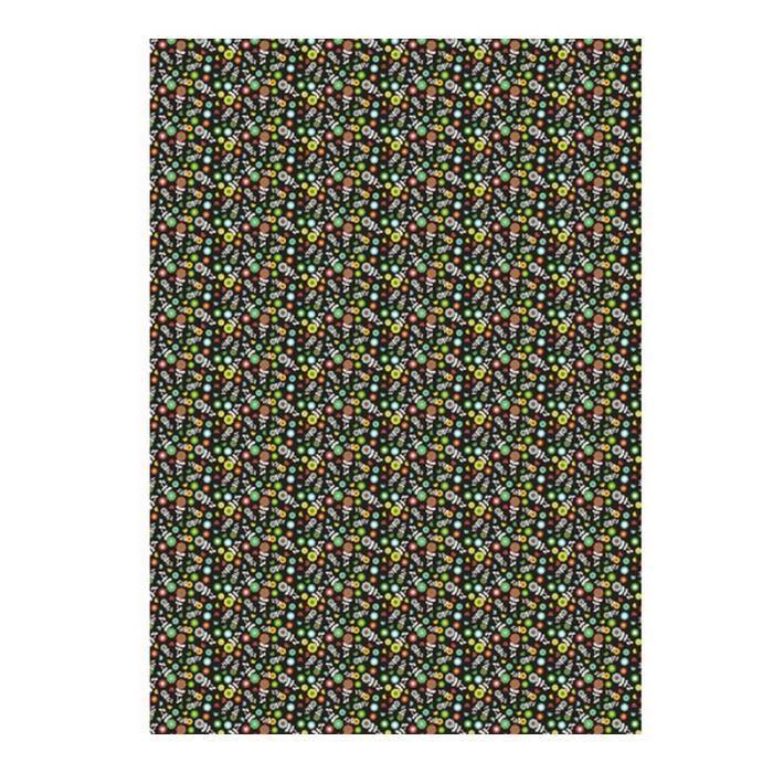 Kit papier créatif Feuille decopatch n°720, Minis fleurs multicolores