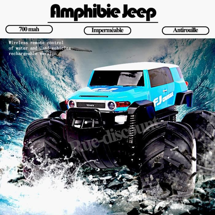 amphibie t l command jeep v hicule voiture imperm able antirouille rechargeable cross country. Black Bedroom Furniture Sets. Home Design Ideas