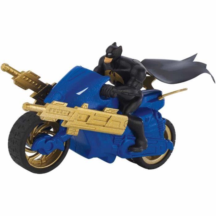 Batcycle Véhicule Et Gris À RétrofrictionBatman Unlimited Bleu nO0Pwk