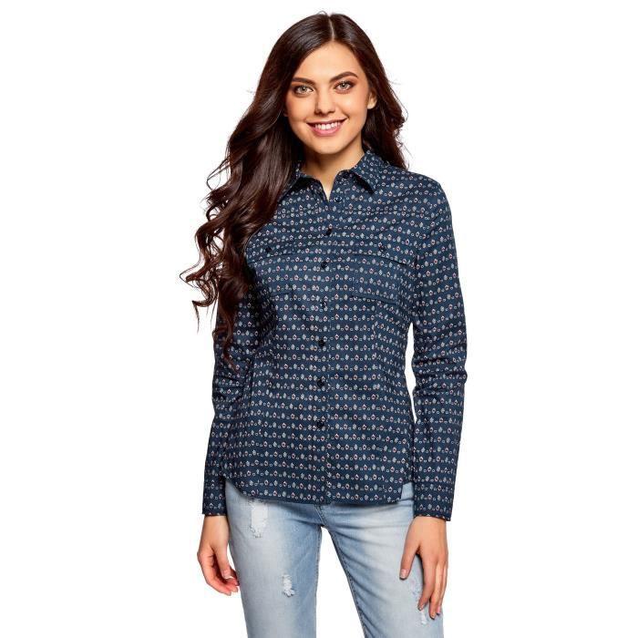 T-SHIRT Basic Cotton T-shirt de la femme 1F5AJ4 Taille-34