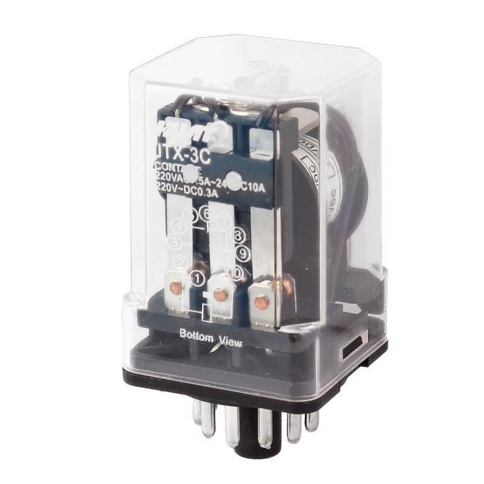 relais electronique sourcingmap la commande moteur 11 broche 3pdt relais lectromagn tique. Black Bedroom Furniture Sets. Home Design Ideas