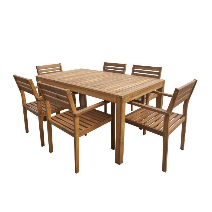 ensemble de mobilier de jardin 6 places 1 table - Table Chaise De Jardin Pas Cher