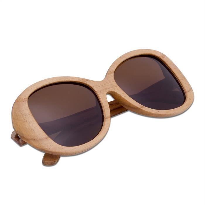 15cfb0fc7e18b0 Lunettes de soleil à la mode du bois pour hommes et femmes, gratuite ...