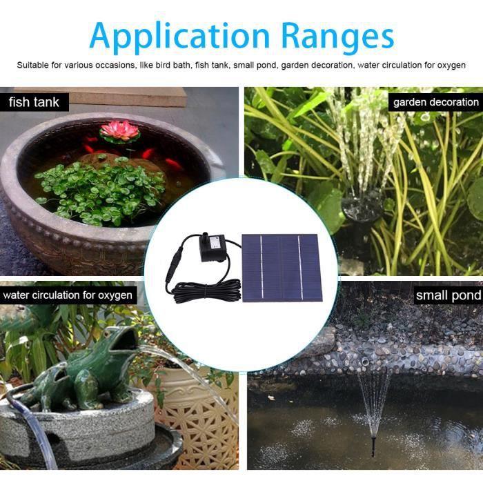 Étang de fontaine actionné solaire de pompe à eau de jardin ...