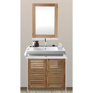 Meuble sous lavabo avec colonne achat vente meuble - Meuble sous lavabo 45 cm ...