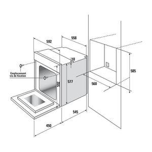 four encastrable 90 cm achat vente pas cher. Black Bedroom Furniture Sets. Home Design Ideas