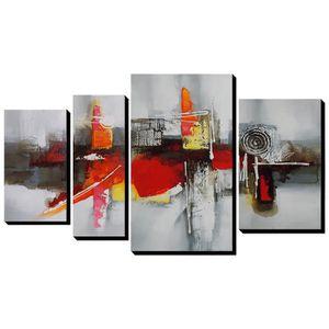 TOILE 4pcs set AONBAT Tableaux de peinture à l'huile Toi