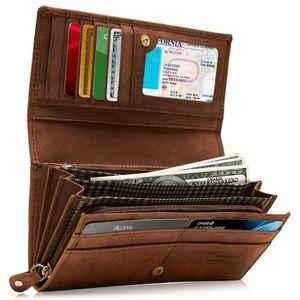 ACCROCHE-SAC portefeuilles homme en cuir véritable pour - poche