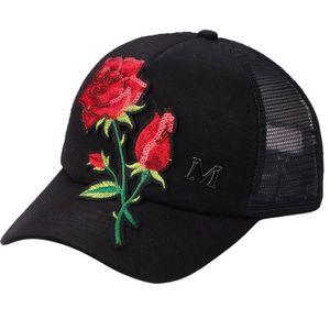 Hommes Femmes Chapeau Mode Tendance Rose Fleur Paillettes Reglable