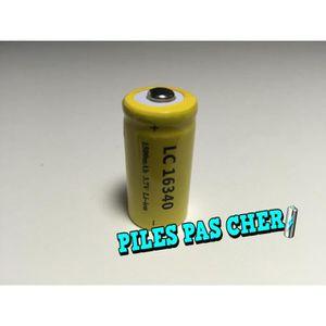 CHARGEUR DE PILES 1 Piles Accus Rechargeables CR123A 16340 3.7V 1500