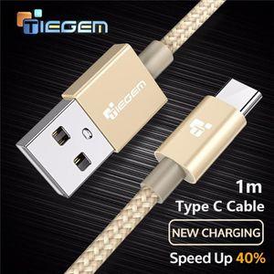 CÂBLE TÉLÉPHONE 1m TIEGEM USB Type C Câble USB C Chargeur rapide C