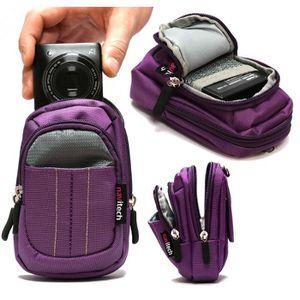 Boîtier universel Navitech housse étui violet pour appareil photo nu