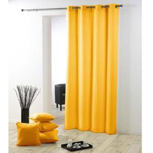 double rideaux jaunes achat vente double rideaux jaunes pas cher cdiscount. Black Bedroom Furniture Sets. Home Design Ideas
