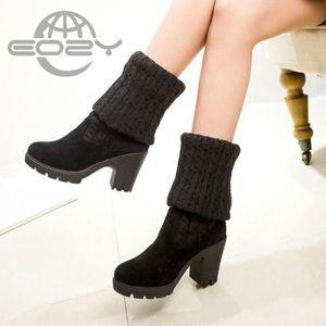 BOTTE EOZY Bottes Femme Fille Chaussures à Talons Haut C