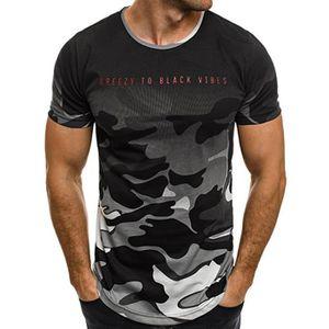 T-SHIRT T shirt Hommes de marque luxe camouflage pas cher