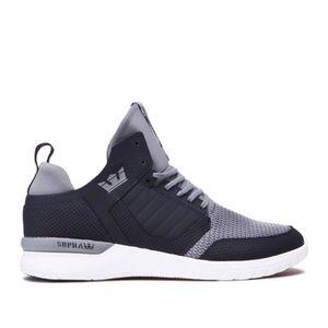 BASKET Chaussures SUPRA METHOD Dark grey white Femme Enfa