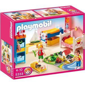 UNIVERS MINIATURE PLAYMOBIL 5333 Chambre des Enfants avec Lits