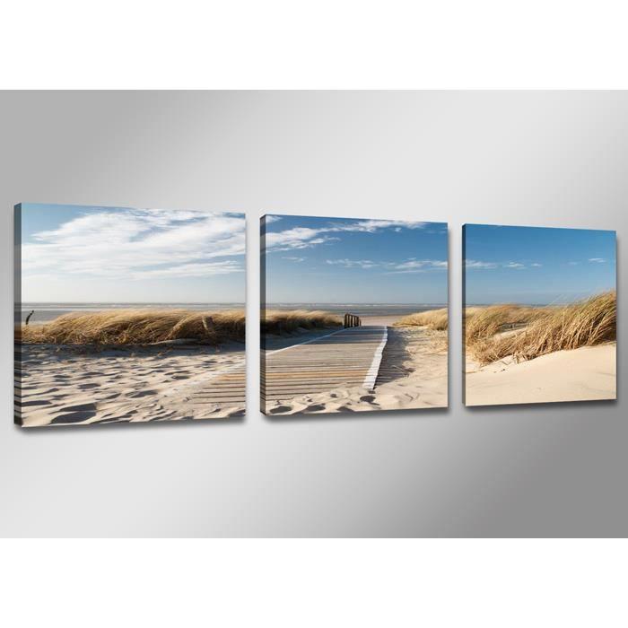 Simple tableau moderne imprim x cm mer with tableau toile - Toile peinte pas cher ...