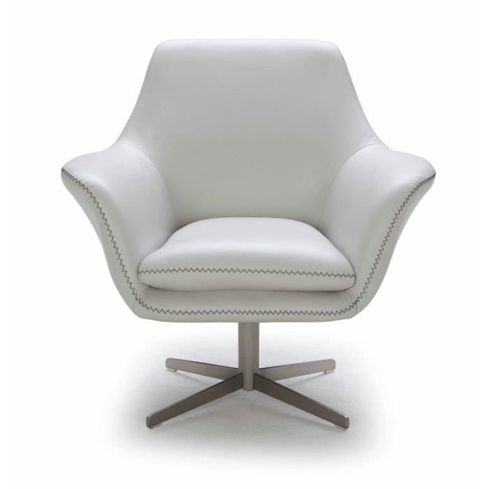 fauteuil pivotant en cuir de vachette pi tement crois en m tal acier charlie mastic achat. Black Bedroom Furniture Sets. Home Design Ideas