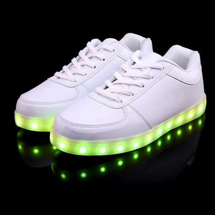 chaussure Led USB rechargeable La lumière Multicolore Basket led