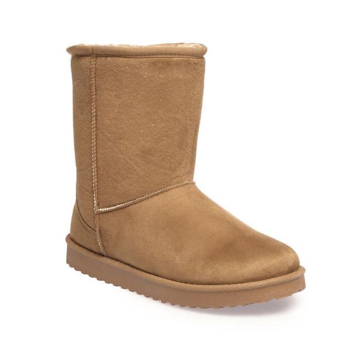 La Modeuse - Boots fourrées en simili daim wWLcDPryV