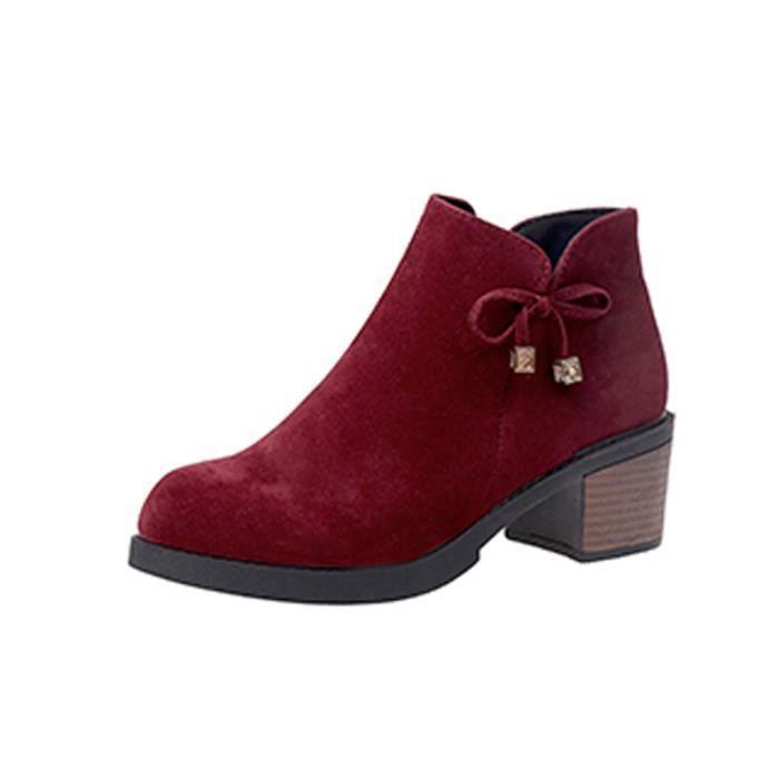 Femme Ankle Boot Profonde Mince Chic Tempérament Séduisante élégante Loisirs Young Simple Haute Qualité Individualité Aimable