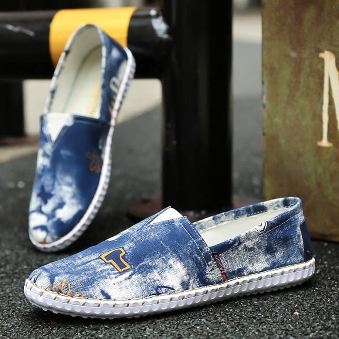 Nouvelle arrivée Mode d'été Mocassins Chaussures plates hommes 4yRYCdD
