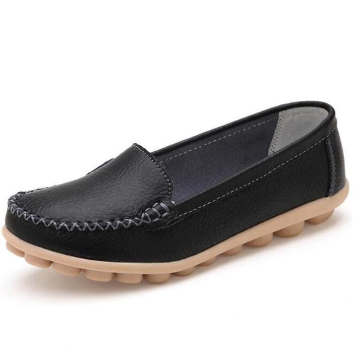 Mocassin Femmes ete Loafer Respirant Chaussures YLG-XZ055Noir39