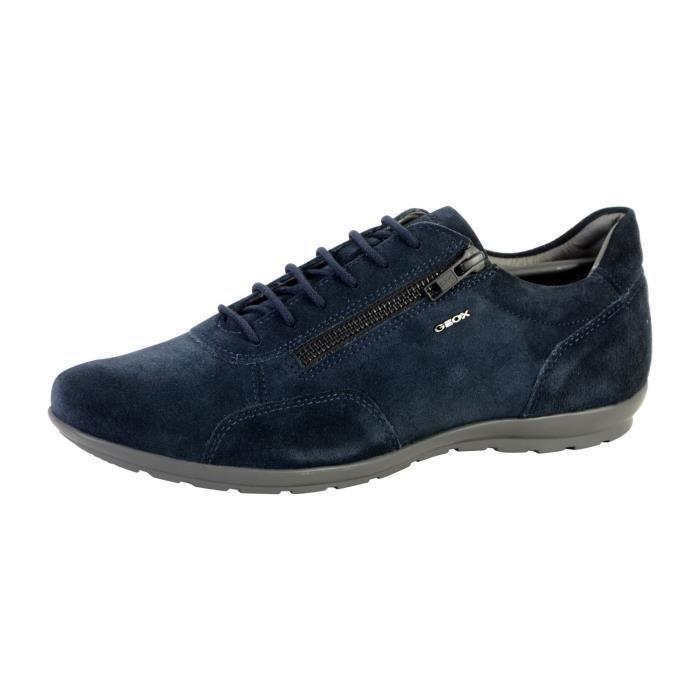 2d4d9a05e875f3 Chaussure Geox U Symbol Bleu Bleu - Achat / Vente lacet - Soldes d ...